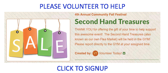 """Second Hand Treasures Signup"