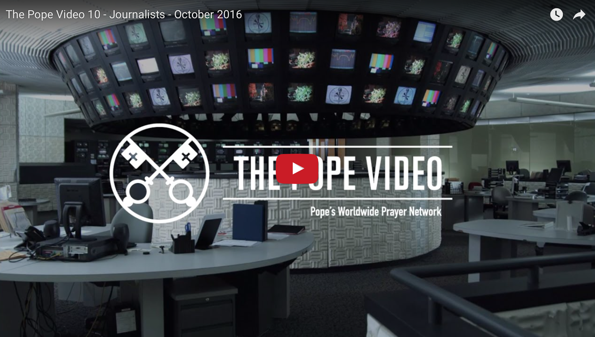 The Pope Video for October 2016: Journalists